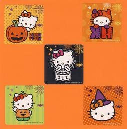 10 Halloween Hello Kitty - Large Stickers - Party Favors - R