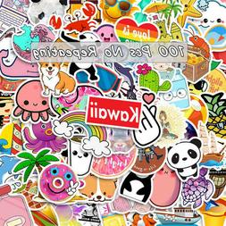 100 Pcs Laptop Stickers for Hydro Flask VSCO Girl Decals Ska