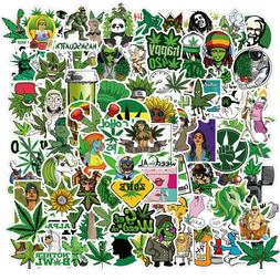 100pcs Weed Leaves Stickers Smoking Graffiti for Skateboard