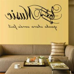 1Pc Music Fashion Art Wall Stickers For Living Room Bedroom
