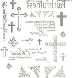 2 Sheets Religious Inspirational Words Foil Stickers Papercr