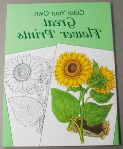2001 Dover Color Your Own Great Flower Prints Book