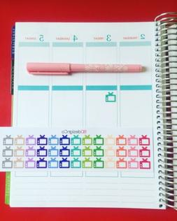 39 television tv planner stickers for all