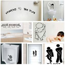 3D Removable Bathroom Decals Decor Toilet Seat Smile for Wal