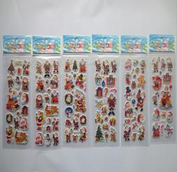 5 sheets Christmas Stickers for Kids Xmas Craft Gift Card-Ma