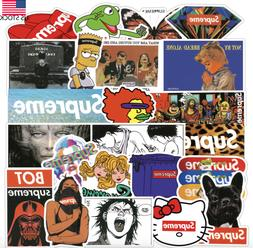 50PCS Supreme Stickers Skateboard Hypebeast Stickers for Lap