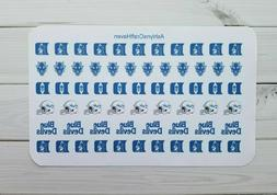 62 College Football/ Basketball Planner Stickers- Perfect Fo