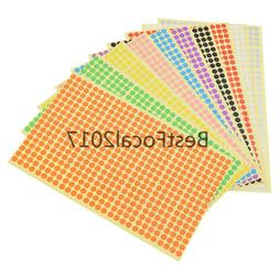 6mm Round Stickers Multicolor Paper Notebook Labels Circles