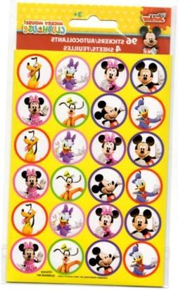 96 Mickey Clubhouse Minnie Pluto Donald  Stickers Party Favo