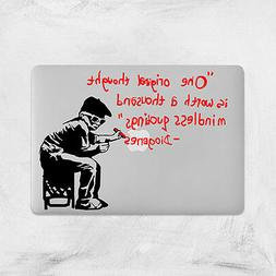 Banksy One Original Thought Boy Decal for Macbook Pro Sticke