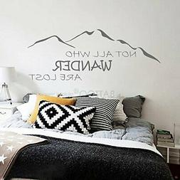 BATTOO Not All Who Wander are Lost Wall Decal Mountain Vinyl