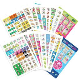 Best Planner Stickers Bundle of TWO Sets - Home, Work, Assor