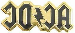 C&D Visionary ACDC Logo 4.5cm Gold Metal Sticker, Gold