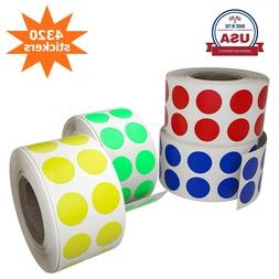 Circle Rolls Dot Stickers Color Coded Rounded Labels 13 mm 0