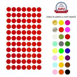 Color Coding Dot Stickers 15mm Round ~5/8 Inch Circle Markin