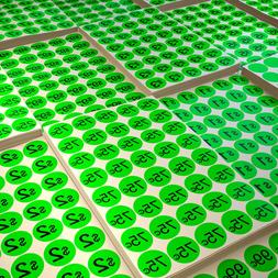 Color Coding Round 19mm Labels Neon Green Stickers Garage Sa