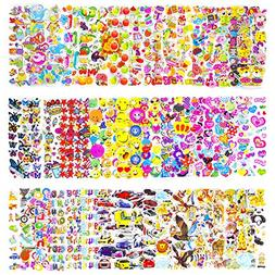 Pack of 50 Different Sheets MCY Toddlers and Kids Puffy Stic