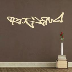 Dubstep Graffiti Vinyl Wall Decal for young raver adult remo