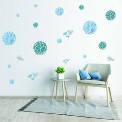Flower Wall Decal Color Wall Stickers For Girls Bedroom Wedd