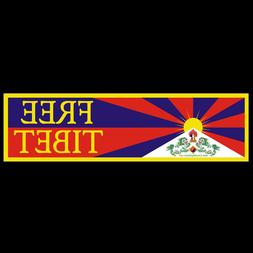 Free Tibet BUMPER STICKER or MAGNET Freedom decal magnetic d