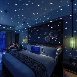 Glow in The Dark Stars and 332 Dots 3D Wall Stickers for Kid