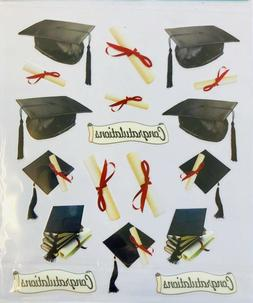 Graduation Caps Diploma Stickers Planner Papercraft Party Jo