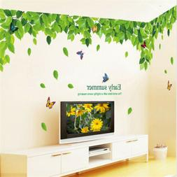 Green Leaf Leaves Vinyl Decal Wall Sticker for Classroom Liv