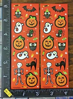 HALLOWEEN OR DAY OF THE DEATH, 2 LITTLE SHEETS BEAUTIFUL STI