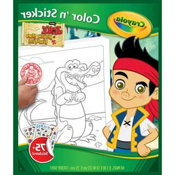 Crayola Jake and The Neverland Pirates Color 'n Sticker Book