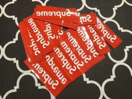 10 pcs authentic red box logo stickers