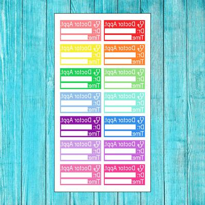 14 colorful doctor appointment stickers for erin