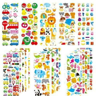 20 sheets 3D Stickers Puffy Stickers Kids Toddler Baby Carto
