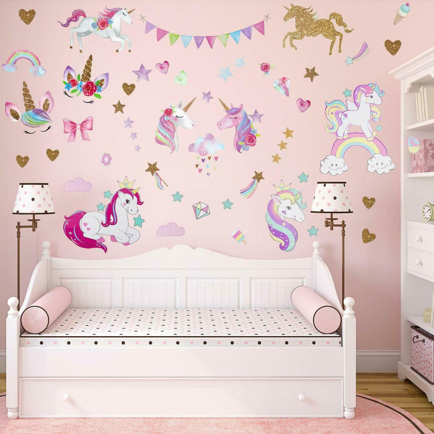 3Sheets 2Styles Unicorn Wall for Room Room