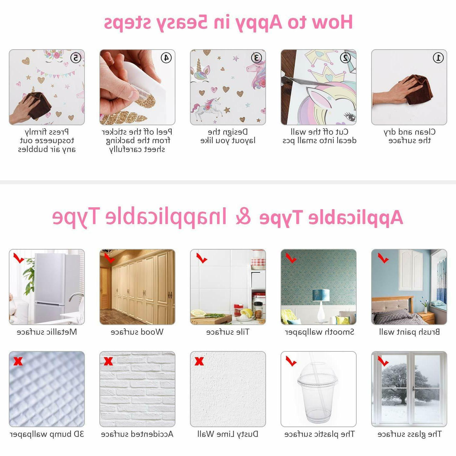 3Sheets 87pcs Wall Stickers Wall for Room