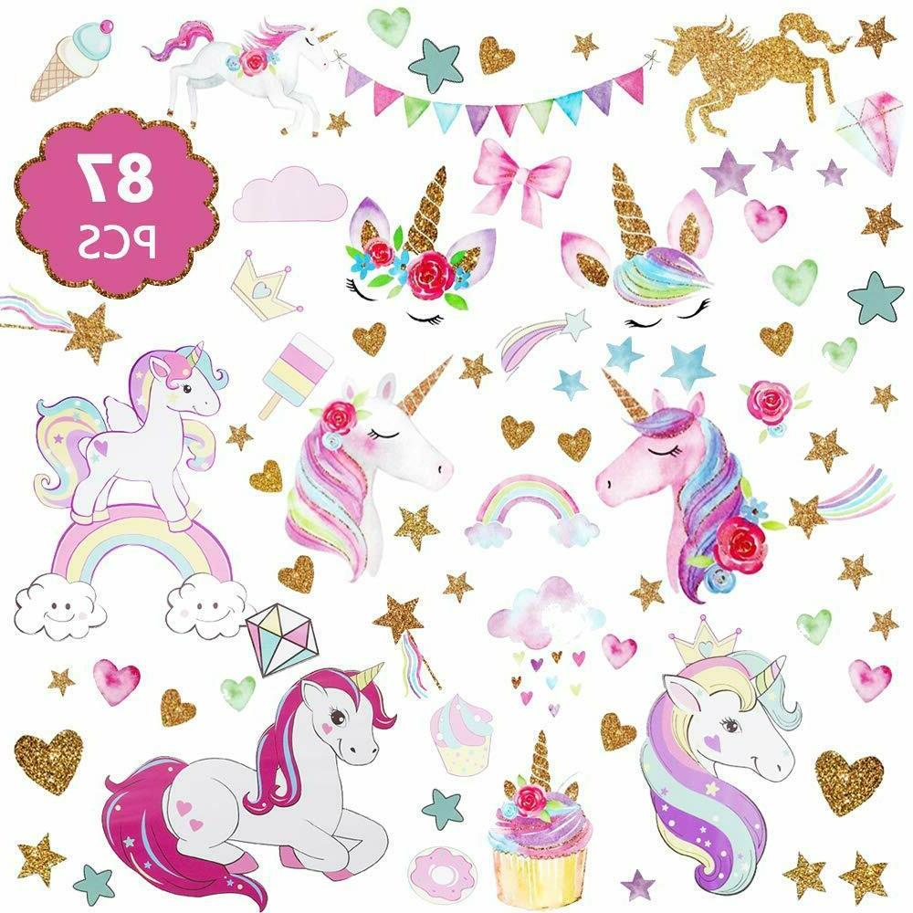 3sheets 2styles 87pcs wall stickers wall decals