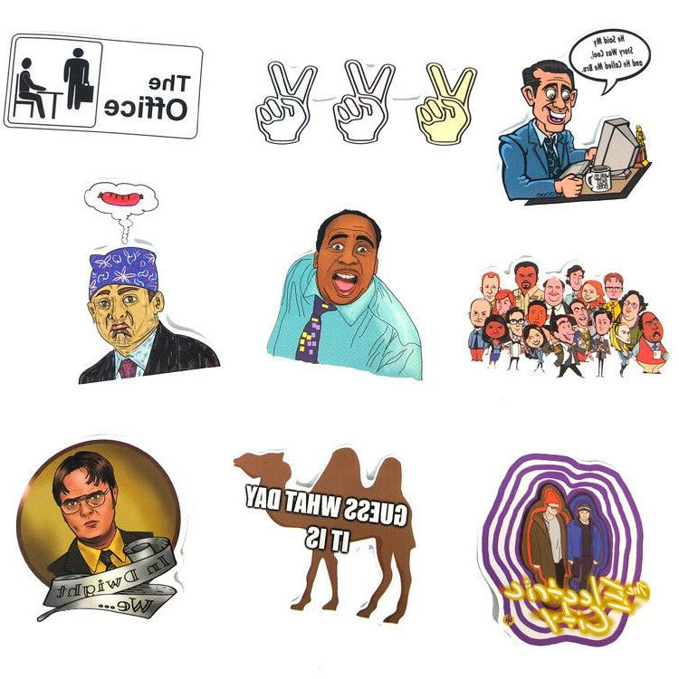 62pc The Office TV Show Stickers Laptop Car Decals