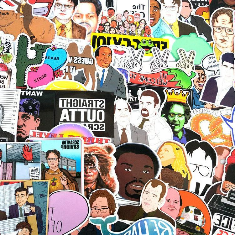 62pc The Office Show Stickers Skateboard Laptop Luggage