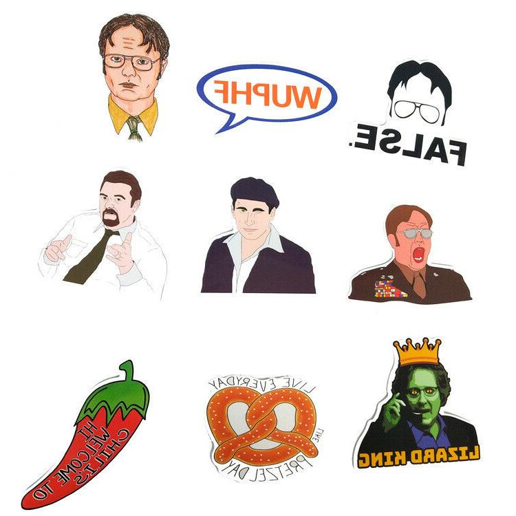 62pc The Office Show Laptop Luggage Decals