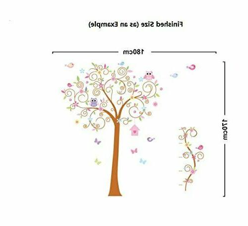 67''x71'' Tree Stickers Removable for Kids
