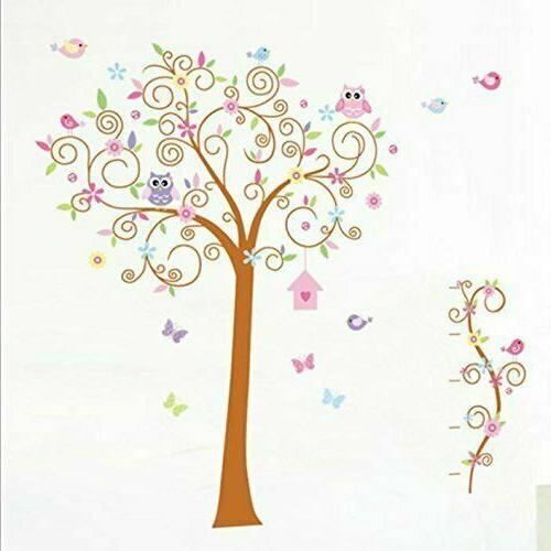 67 x71 owl tree wall stickers removable