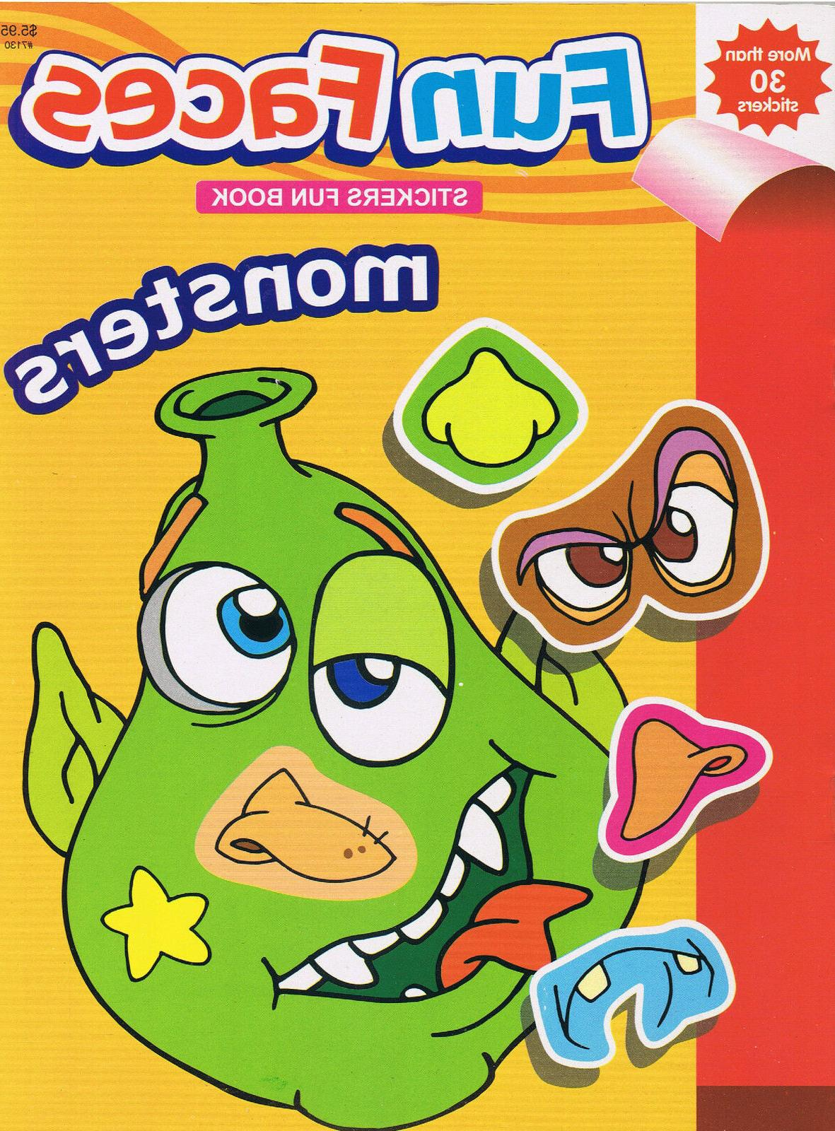 Silly MONSTERS Faces Fun Children's Activity Book 30+ Sticke