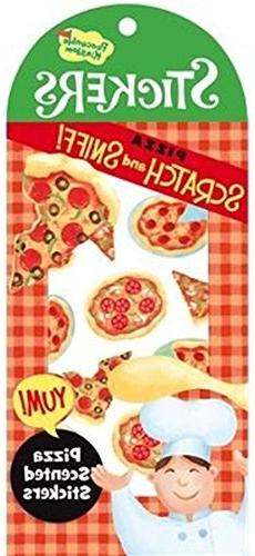 Peaceable Kingdom Scratch and Sniff Pizza Scented Sticker Pa