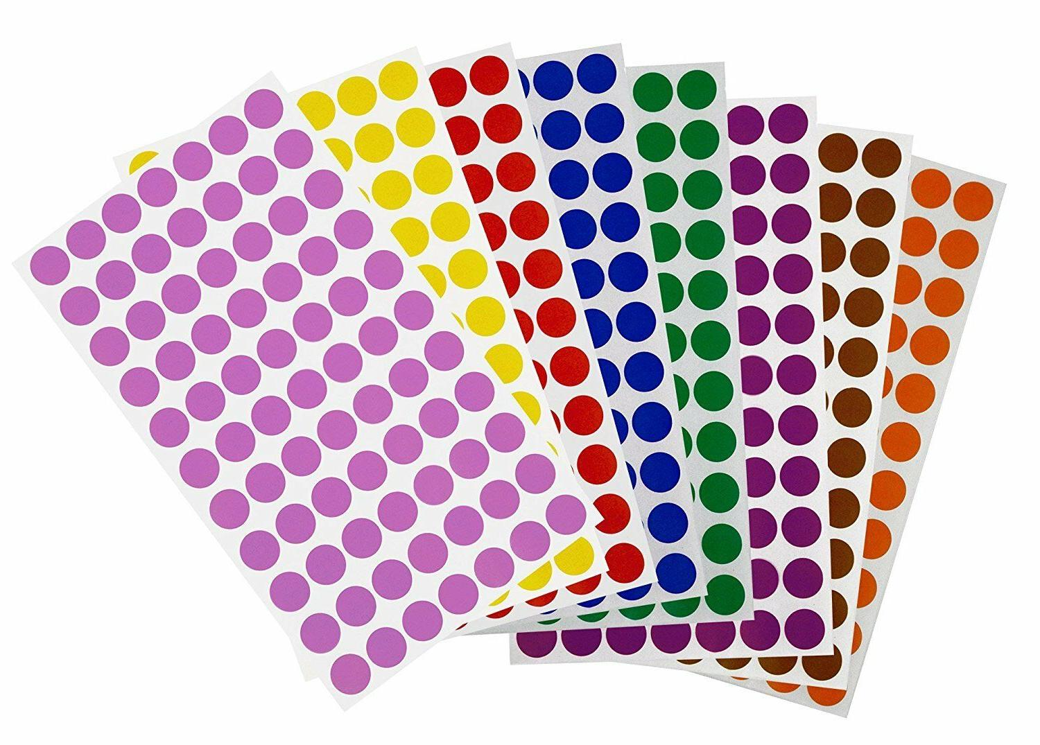 Color Coding Dot 15mm Round Circle