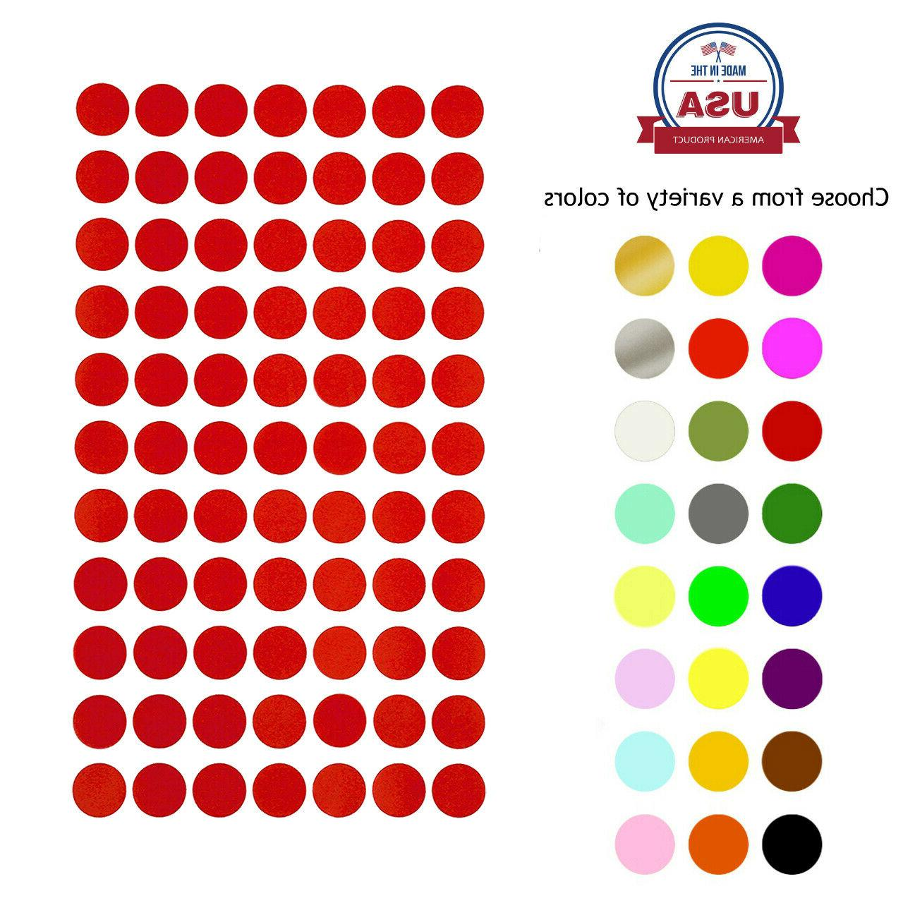 color coding dot stickers 15mm round 5