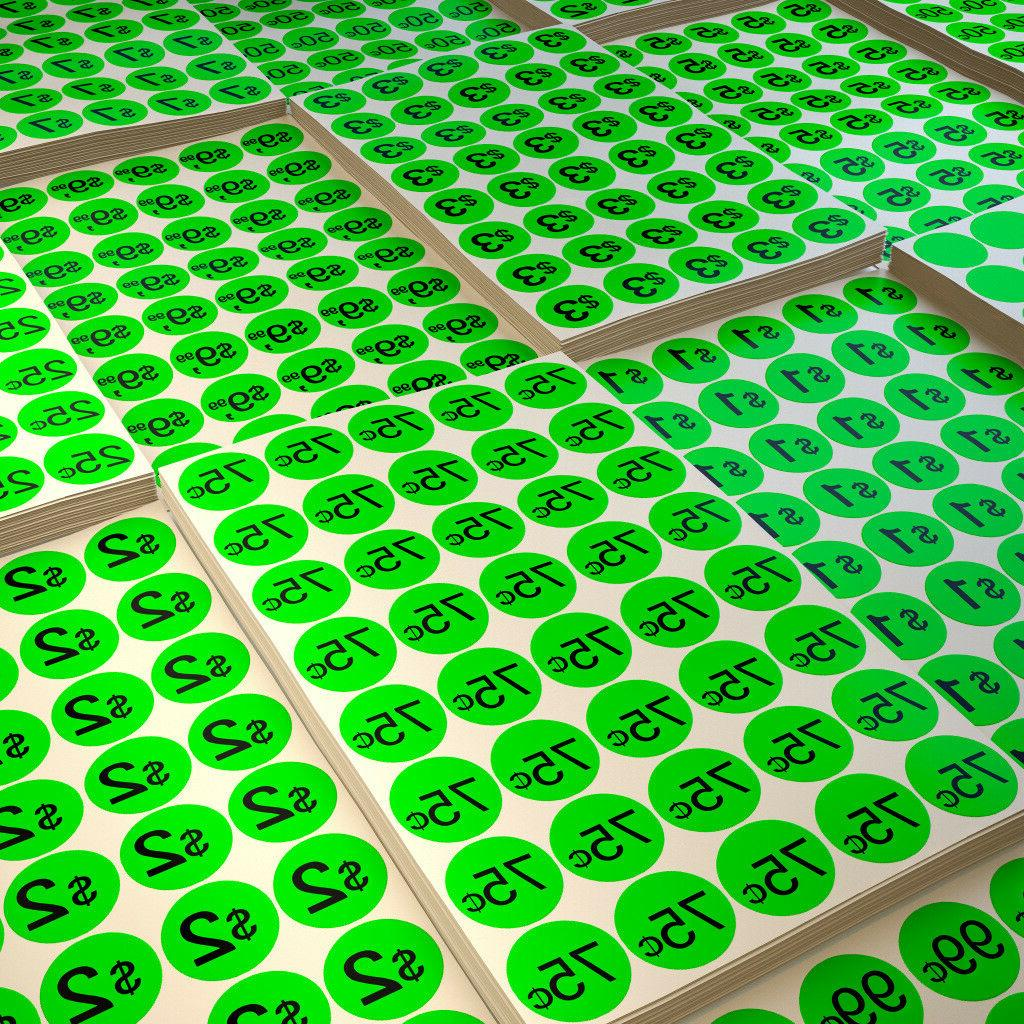 color coding round 19mm labels neon green