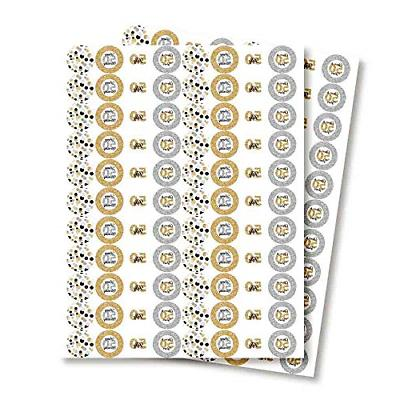 Confetti Polka 50th Birthday Party Labels, 300 Party Circle for
