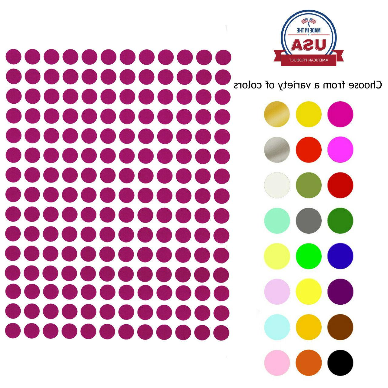 dot stickers 1 4 inch 8 mm