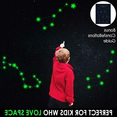 BOLLEPO Glow in The Dark Dots 332 3D Stickers for Kids Bedroom