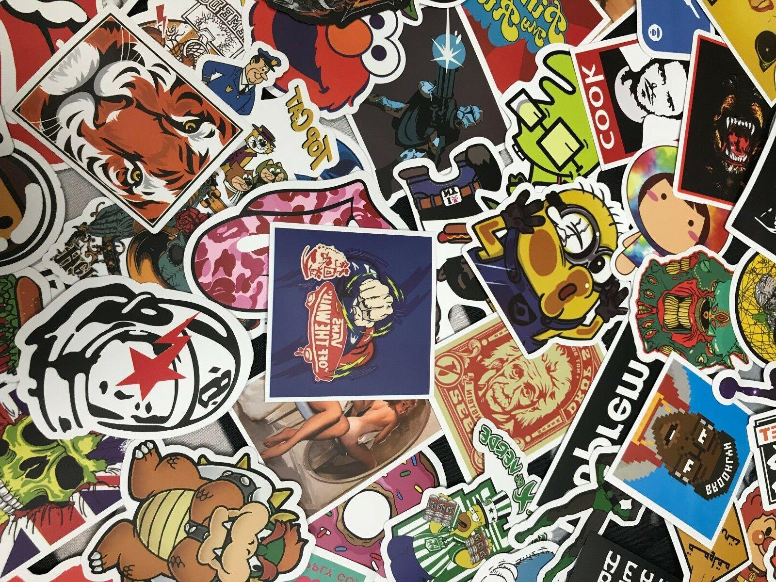 Lot 100 Laptop Stickers bomb Luggage Decals Dope