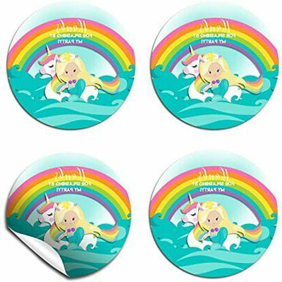 Mermaid &amp Party Thank You Labels, By